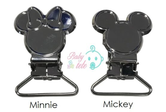 Clip Mickey/Minnie metal para cintas