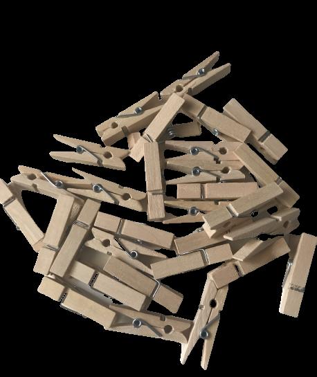 Pinzas de madera para manualidades