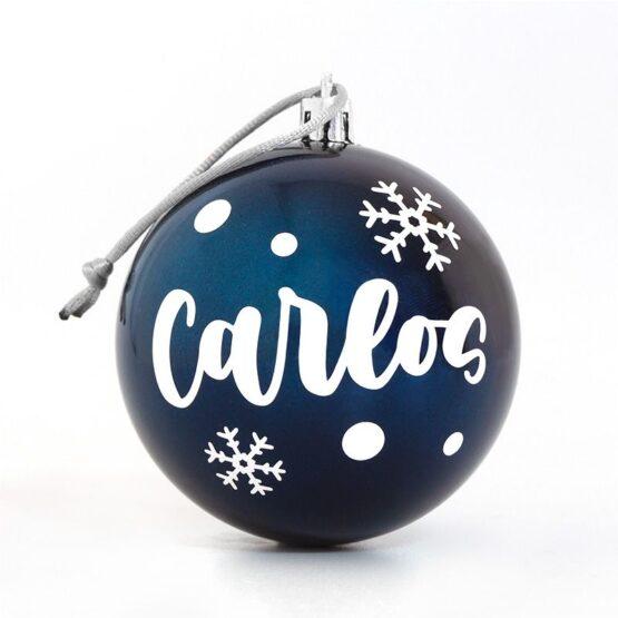 Bola de Navidad personalizada azul