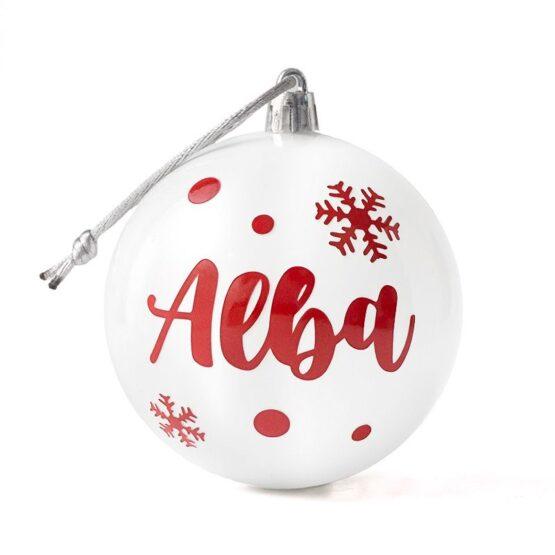 Bola de Navidad personalizada blanca
