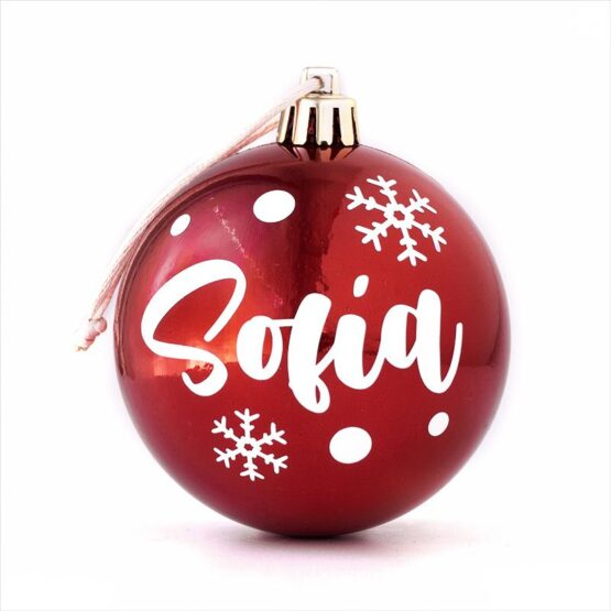 Bola de Navidad personalizada roja