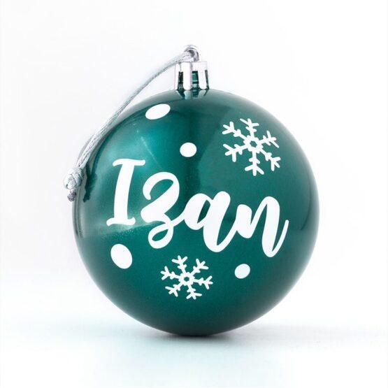 Bola de Navidad personalizada verde